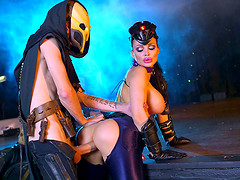 Stunning Aletta Ocean is getting rammed by the horny villain