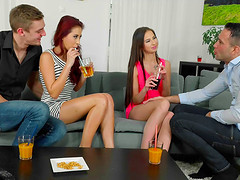 Paula Shy and her friend have a great time fucking fellows